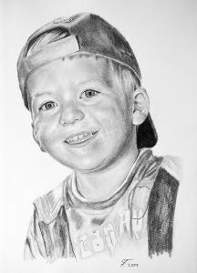 Bleistiftzeichnungen, Portraitzeichnungen, Jungen Portraits zeichnen lassen Kinder-Portrait