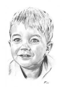 Luzern, Bleistiftzeichnung, Portraitzeichnung - Kinder, Bleistiftzeichnungen, Kohlezeichnungen, Kinder-Portrait Junge Kohlezeichnung