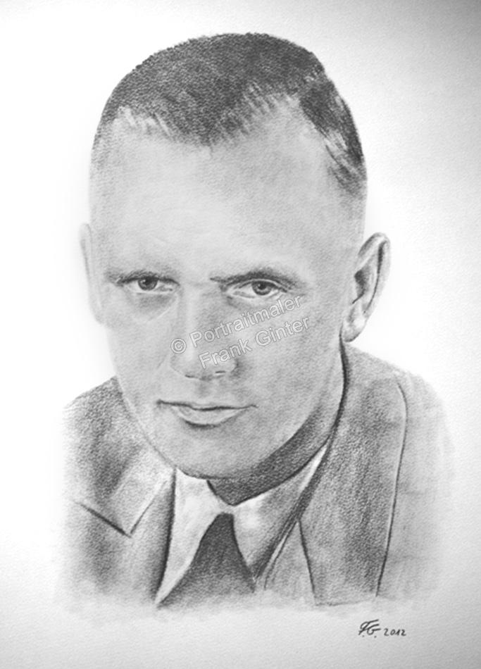 Eine Bleistiftzeichnung Portraitzeichnung ein Mann