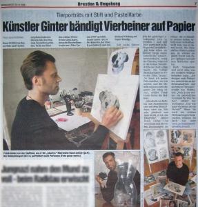 Portraitmaler F. Ginter, Dresdner Morgenpost Künstlerportrait 2008