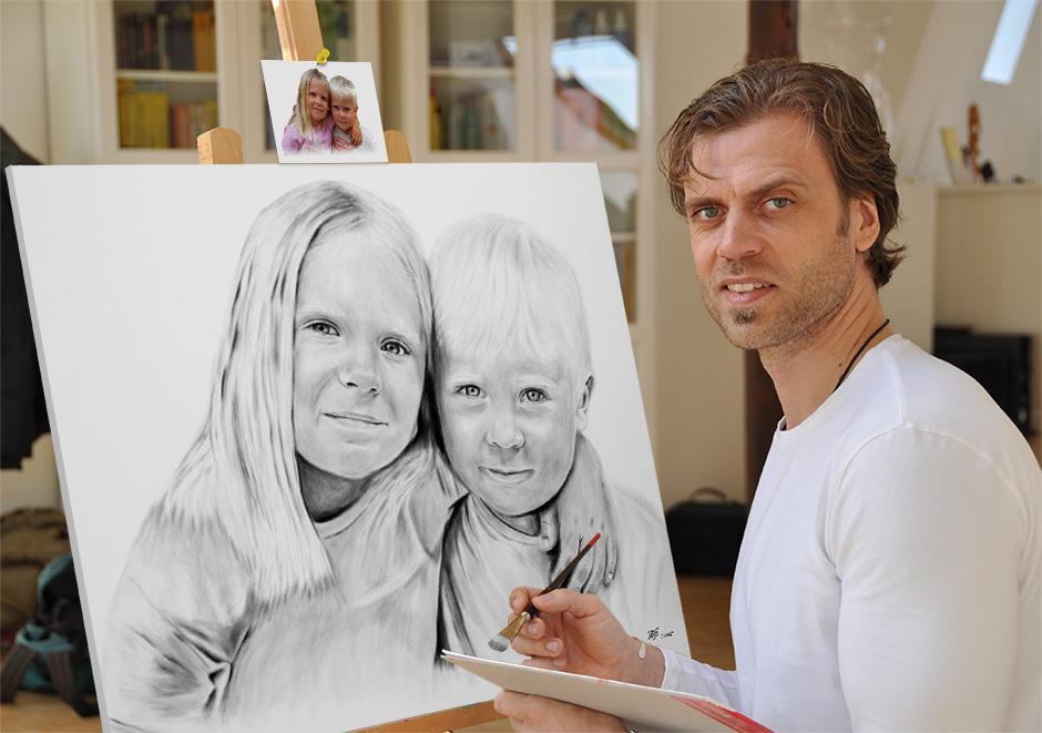 Portraitmalerei Dresden - Portraitmaler, Portraitzeichner, Karikaturist, Aktzeichner und Pop Art Maler Frank Ginter