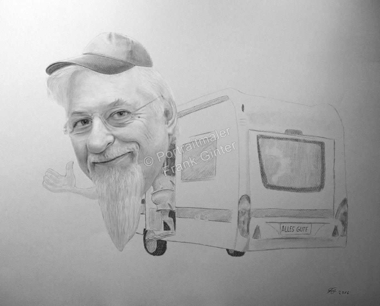 Karikatur, Bleistiftzeichnung, Karikatur-Zeichnung - Mensch, Bleistiftzeichnung, handgezeichnete Karikatur, Karikatur vom Foto
