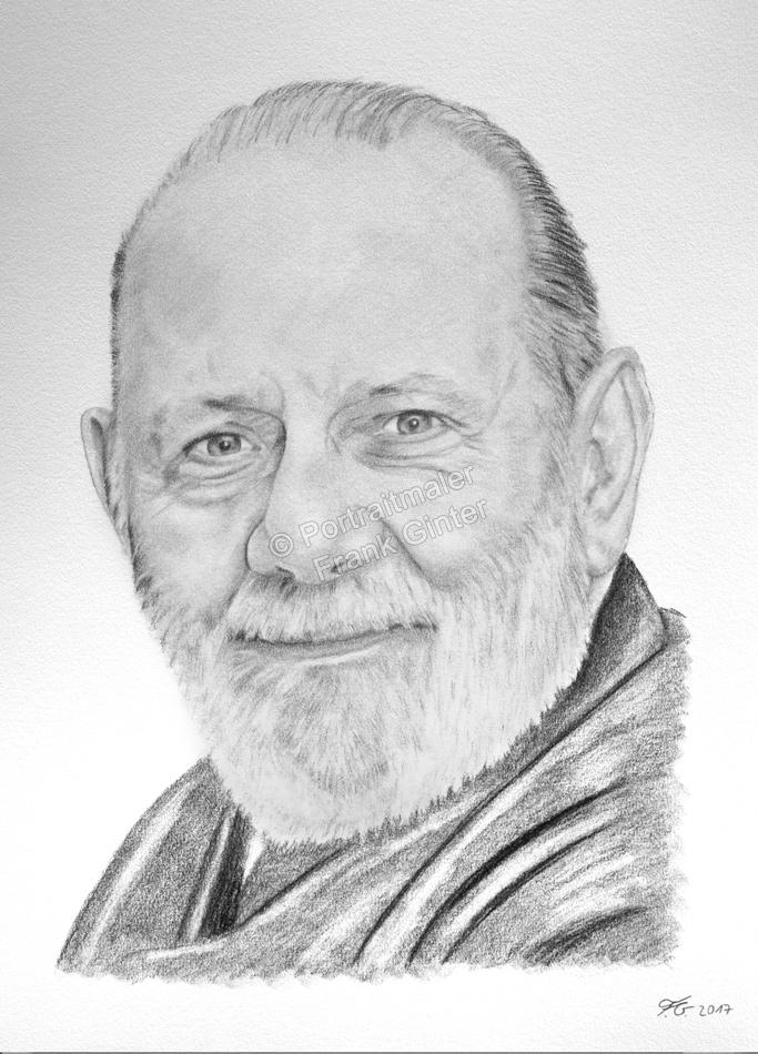 Kohlezeichnung eines Mannes, Portraitzeichnung, Kohlezeichnungen Portrait, Portraitzeichner
