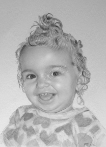 Bleistiftzeichnung, Portrait, Kinder-Portraits zeichnen lassen, Portraitzeichnung
