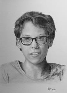 Bleistiftzeichnung, Portraitzeichnung, Bleistiftzeichnung einer Frau, Bleistift-Portraits, Portraitzeichnungen mit Bleistift