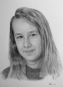 Bleistiftzeichnung, Portrait, Mädchen Portraits zeichnen lassen Kinder-Portrait, Portraitzeichnung