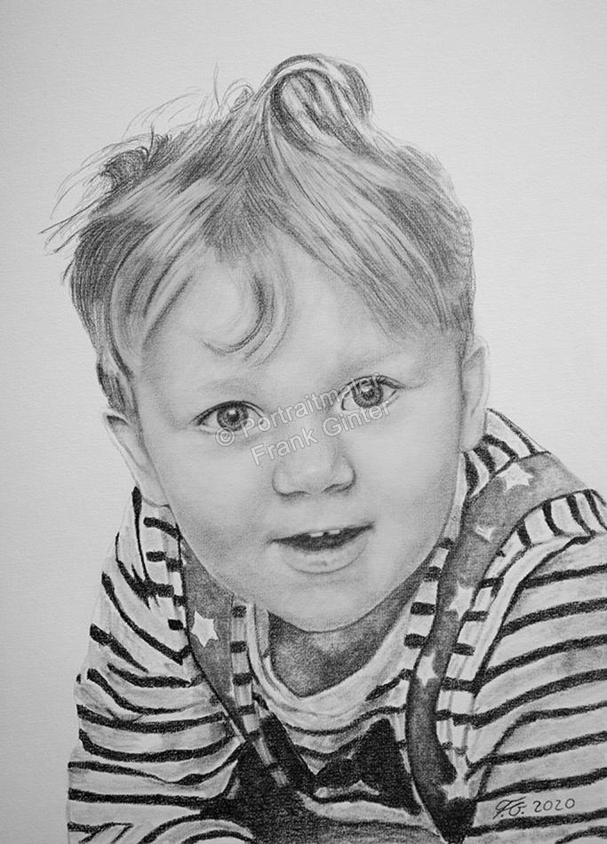 Bleistiftzeichnungen Portraitzeichnung Junge Bleistiftzeichnung Zeichner