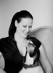 Kohlezeichnung, Portraitzeichnung, Kohlezeichnung einer Frau, Kohle-Portraits, Portraitzeichnungen mit Kohle